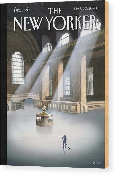 Grand Central Terminal Wood Print featuring the painting Grand Central Terminal by Eric Drooker