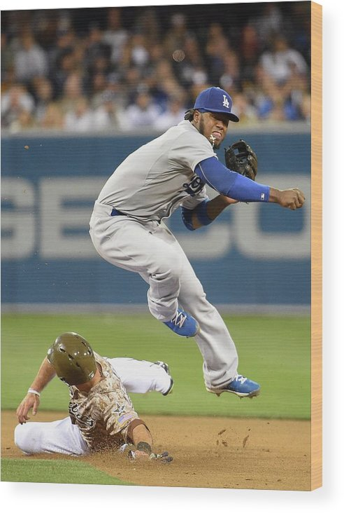 Double Play Wood Print featuring the photograph Hanley Ramirez by Denis Poroy