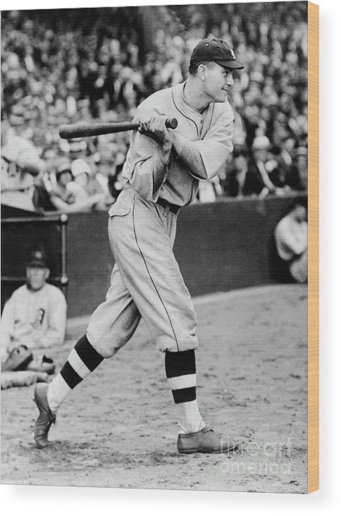 People Wood Print featuring the photograph Heinie Manush by National Baseball Hall Of Fame Library