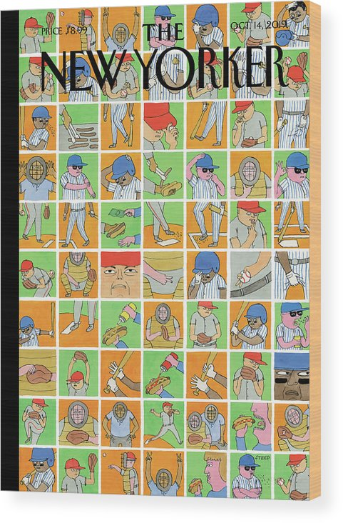 Inside Baseball Wood Print featuring the painting Inside Baseball by Edward Steed