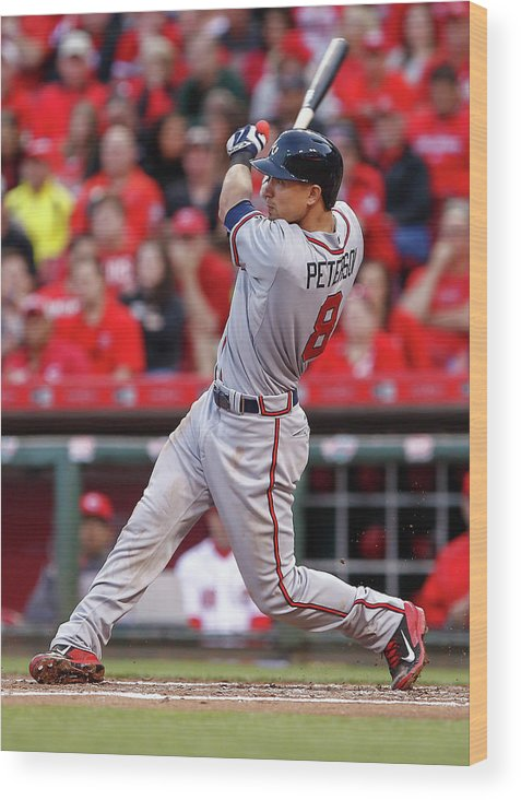 Great American Ball Park Wood Print featuring the photograph Jace Peterson by Michael Hickey