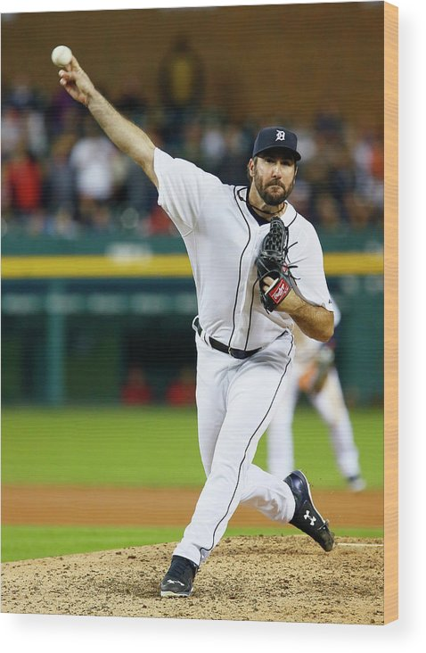Ninth Inning Wood Print featuring the photograph Justin Verlander by Duane Burleson