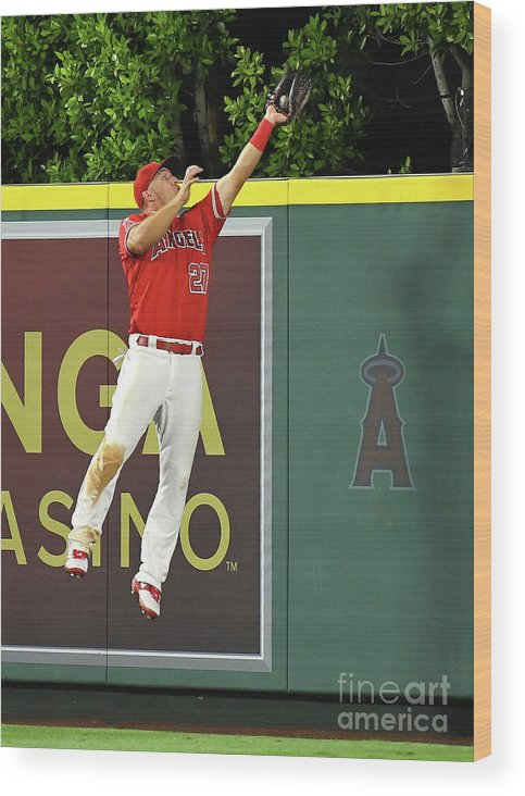 People Wood Print featuring the photograph Kyle Seager and Mike Trout by Jayne Kamin-oncea