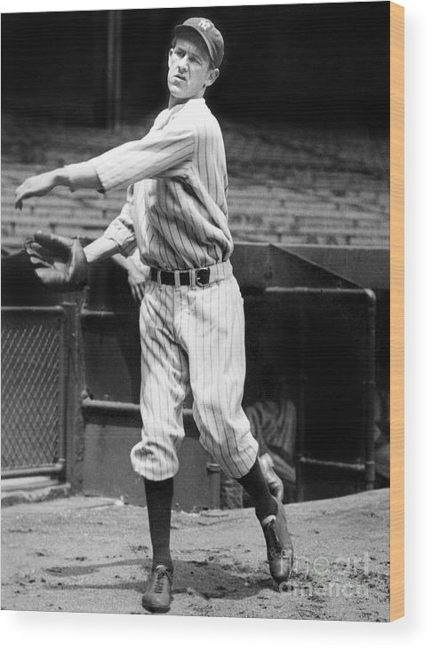 1930-1939 Wood Print featuring the photograph Lefty York by National Baseball Hall Of Fame Library