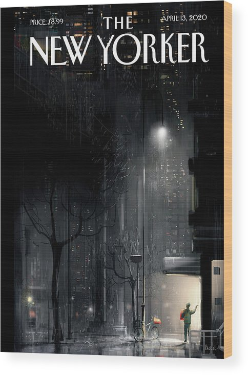Lifeline Wood Print featuring the painting Lifeline by Pascal Campion