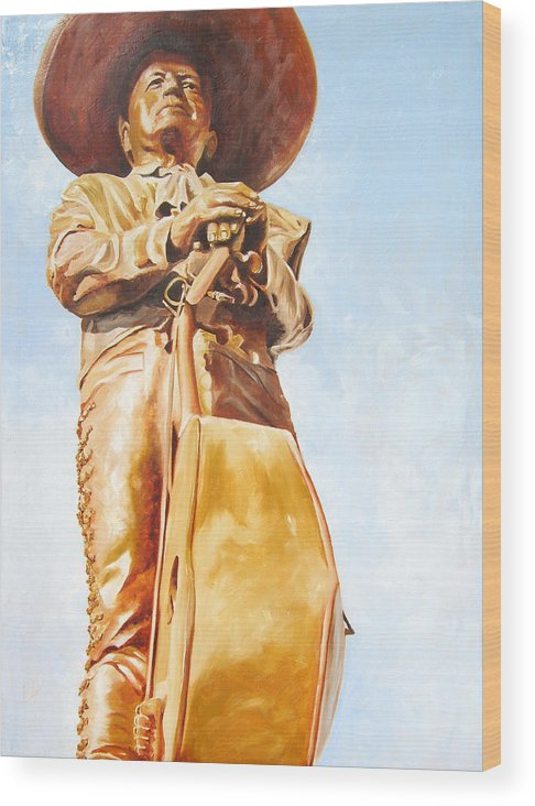 Mariachi Wood Print featuring the painting Mariachi by Laura Pierre-Louis