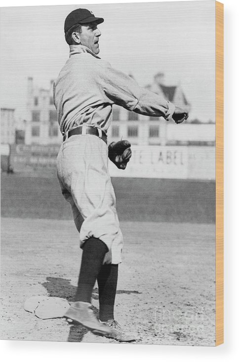 American League Baseball Wood Print featuring the photograph Nap Lajoie by National Baseball Hall Of Fame Library