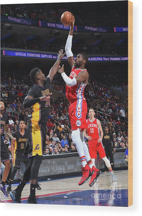 Nba Pro Basketball Wood Print featuring the photograph Nerlens Noel by Jesse D. Garrabrant