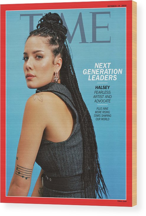 Next Generation Leaders Wood Print featuring the photograph NGL - Halsey by Photograph by Daria Kobayashi Ritch for TIME