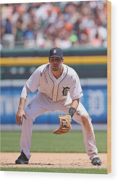 American League Baseball Wood Print featuring the photograph Nick Castellanos by Leon Halip