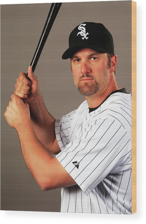 Media Day Wood Print featuring the photograph Paul Konerko by Jamie Squire