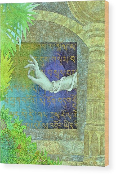 Sacred Wood Print featuring the painting Prayer to Tara by Jennifer Baird