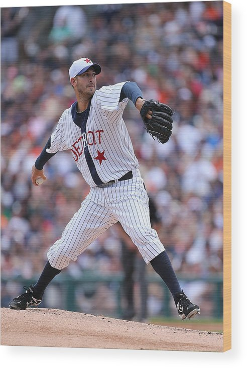 American League Baseball Wood Print featuring the photograph Rick Porcello by Leon Halip