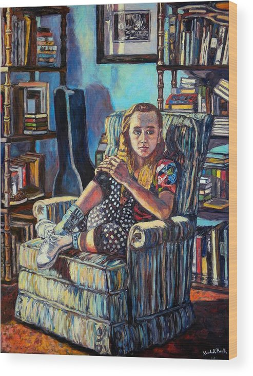 Figure Wood Print featuring the painting Samantha by Kendall Kessler
