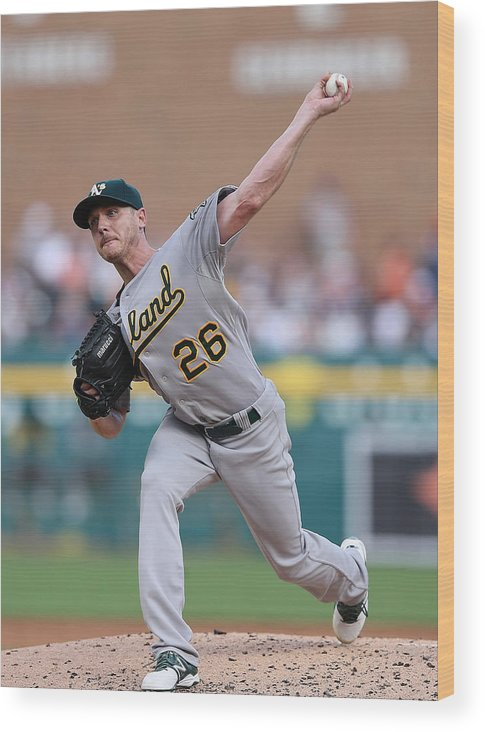 Second Inning Wood Print featuring the photograph Scott Kazmir by Leon Halip