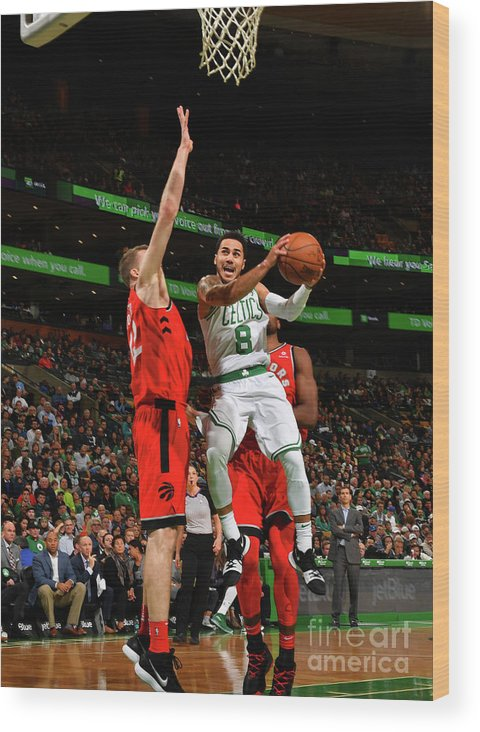 Nba Pro Basketball Wood Print featuring the photograph Shane Larkin by Jesse D. Garrabrant