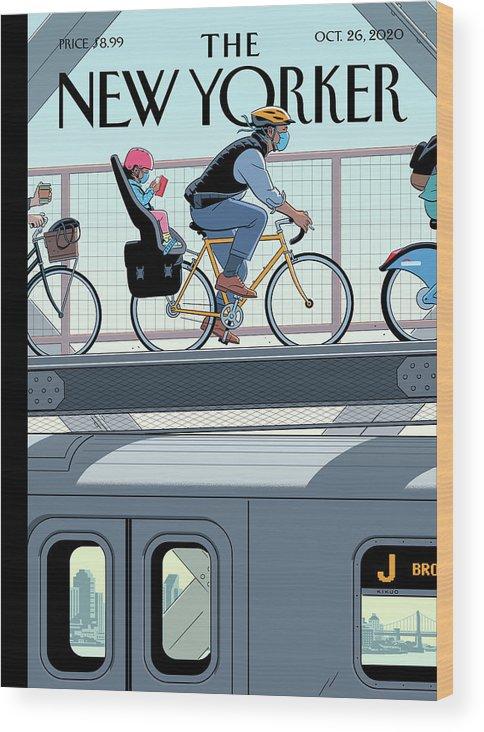 Nyc Wood Print featuring the digital art Shifting Gears by R Kikuo Johnson