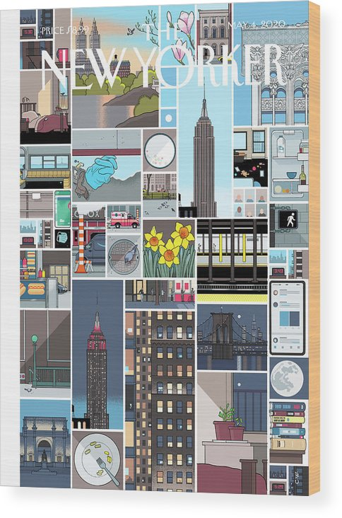 City Wood Print featuring the digital art Still Life by Chris Ware