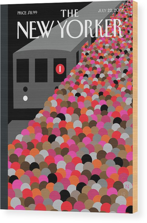 The Commute Wood Print featuring the painting The Commute by Christoph Niemann