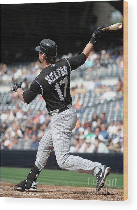 People Wood Print featuring the photograph Todd Helton by Denis Poroy