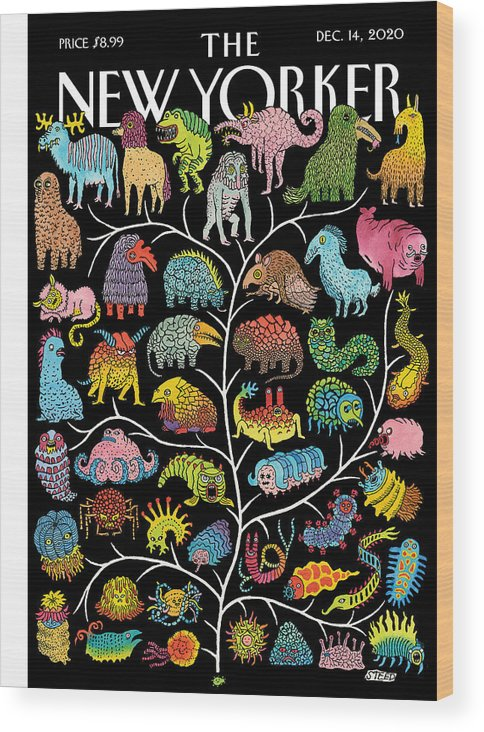 Life Wood Print featuring the painting Tree of Life by Edward Steed