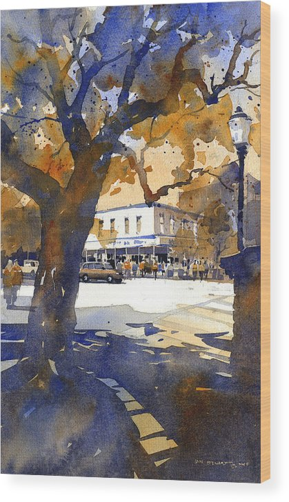 Toomers Oaks Wood Print featuring the painting The College Street Oak by Iain Stewart