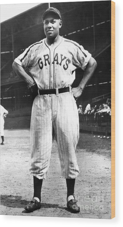 African Ethnicity Wood Print featuring the photograph Buck Leonard by National Baseball Hall Of Fame Library