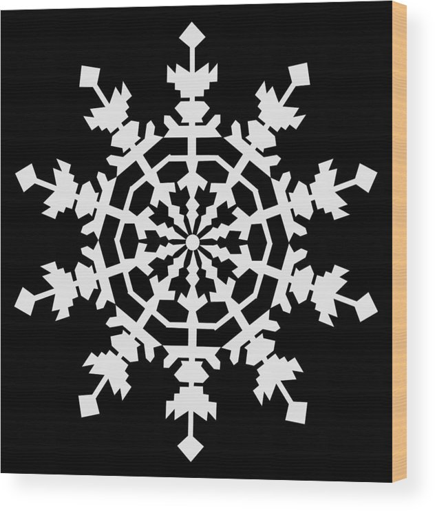 1 Ice Crystals In Light Gray Seen Through An Electron Microscope Might Inspire You To Have A Merry Christmas Wood Print featuring the digital art 1 Ice Crystals in Light Gray seen through an Electron Microscope might inspire you to have a Merry C by Asbjorn Lonvig
