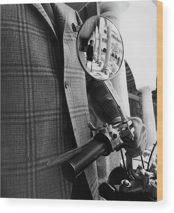 Model Wood Print featuring the photograph A Wing Mirror by Leonard Nones