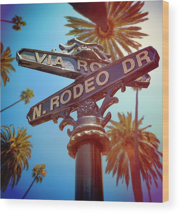 Beverly Hills Wood Print featuring the photograph Beverly Hills California by Lpettet