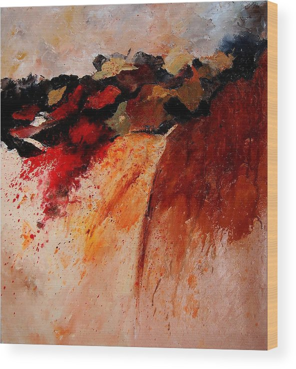 Abstract Wood Print featuring the painting Abstract 010607 by Pol Ledent