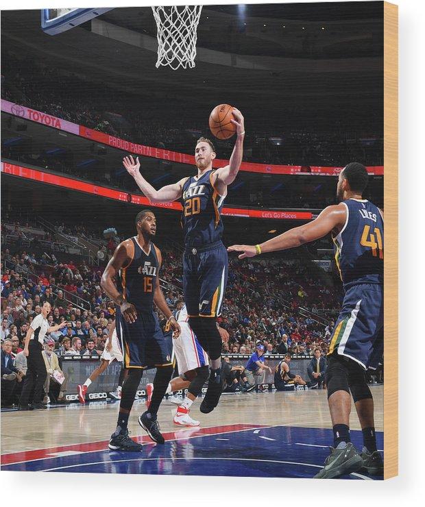 Nba Pro Basketball Wood Print featuring the photograph Gordon Hayward by Jesse D. Garrabrant