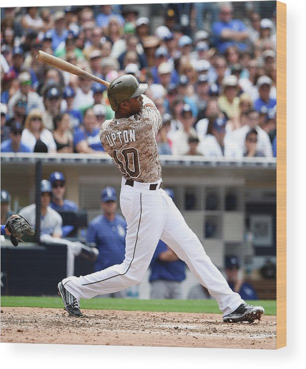 People Wood Print featuring the photograph Justin Upton by Denis Poroy