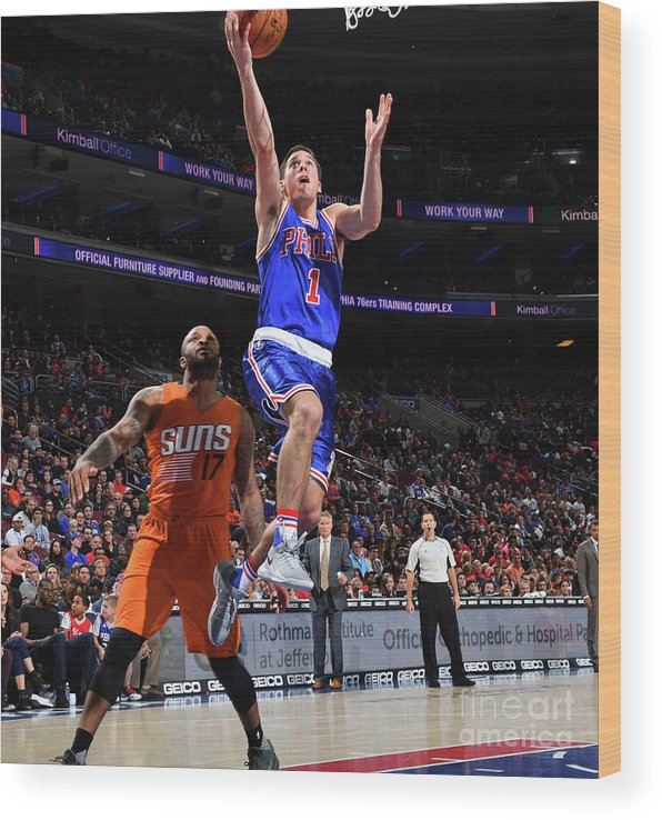 Nba Pro Basketball Wood Print featuring the photograph T.j. Mcconnell by Jesse D. Garrabrant