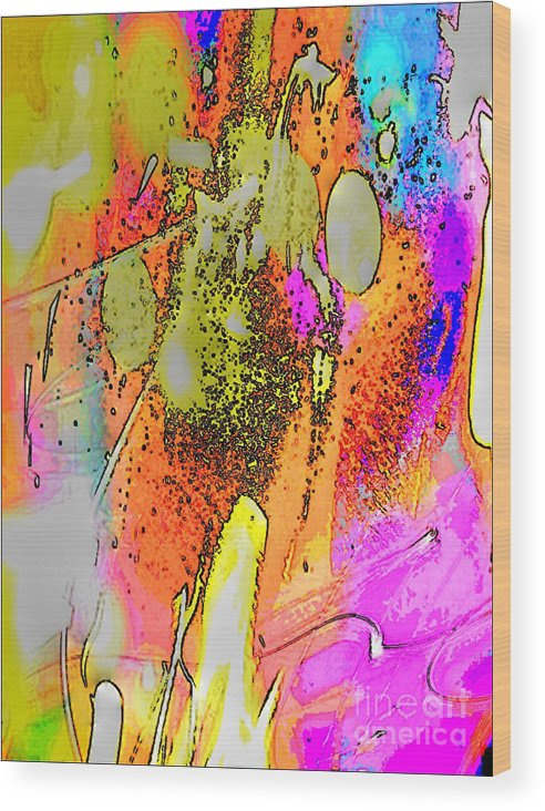 Abstract 2 Wood Print featuring the digital art Abstract 2 by Gayle Price Thomas