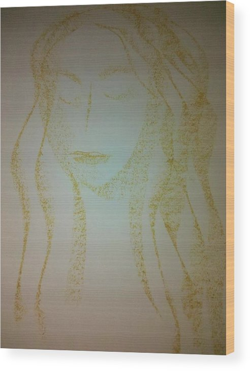 Woman Wood Print featuring the photograph Art Therapy 40 by Michele Monk