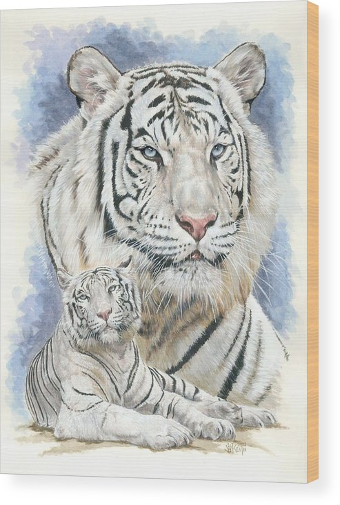 Big Cat Wood Print featuring the mixed media Dignity by Barbara Keith