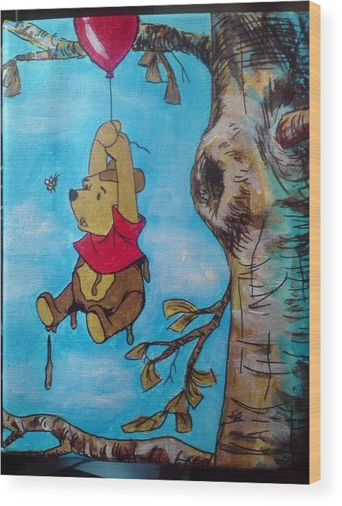 Disney Wood Print featuring the painting Disney Them 2 Of 5 by Steven Kuc