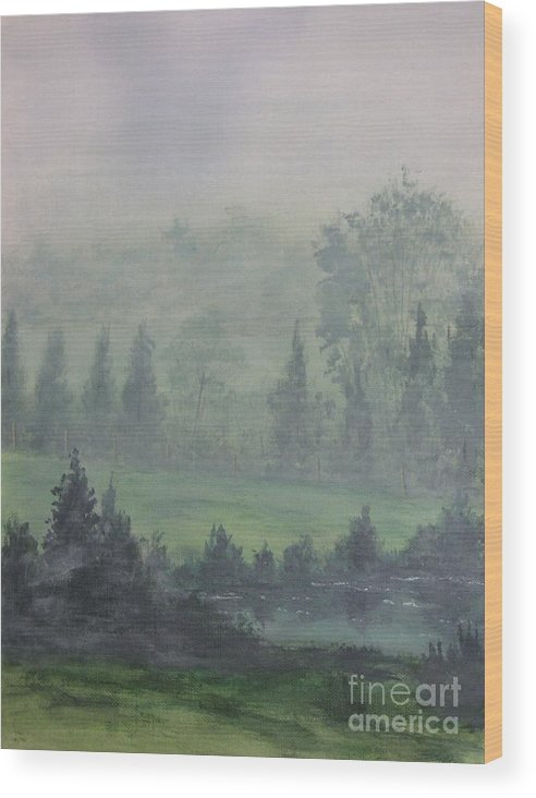Painting Wood Print featuring the painting Foggy Bottom Tennessee by Dana Carroll