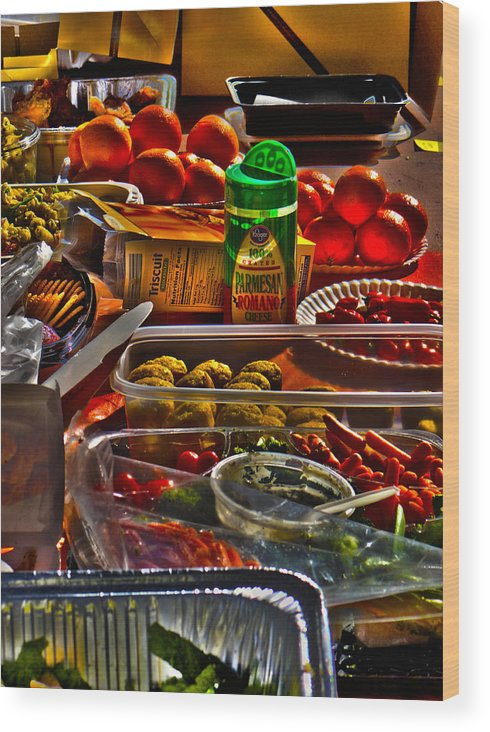 Food Wood Print featuring the photograph Grazing Table 2 by Richard J Cassato
