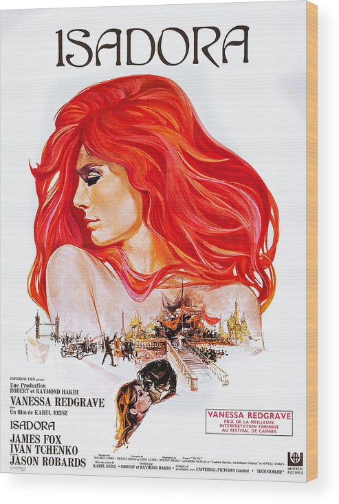 1960s Movies Wood Print featuring the photograph Isadora, Aka The Loves Of Isadora by Everett