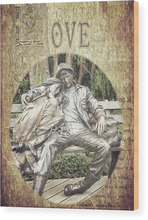 Couple Wood Print featuring the photograph Love Unending by Jordan Blackstone