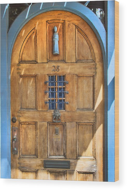 St. Augustine Wood Print featuring the photograph Rectory Door by Rich Franco