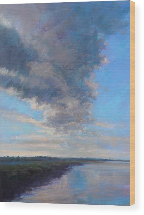 Clouds Wood Print featuring the painting Wayward by Ed Chesnovitch