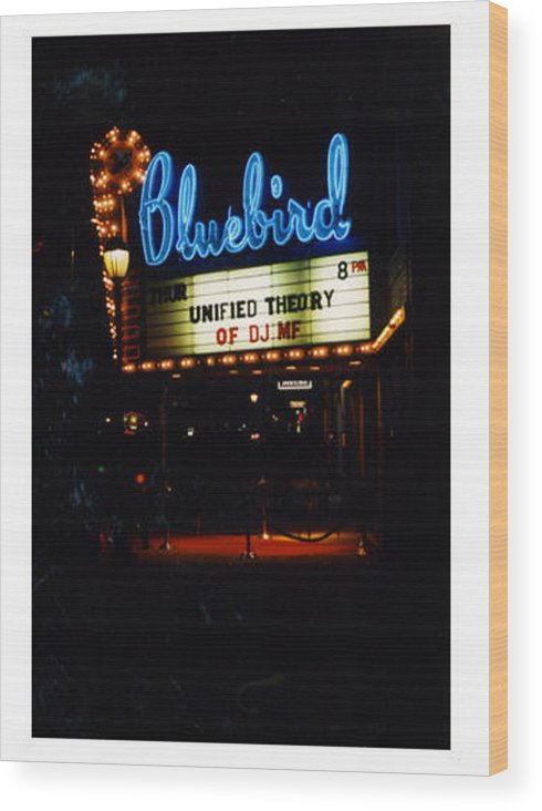 Vintage Wood Print featuring the photograph At The Bluebird by SarahMarie Bostron