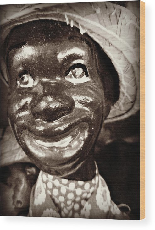 Black Wood Print featuring the photograph Bocephus by Lora Mercado