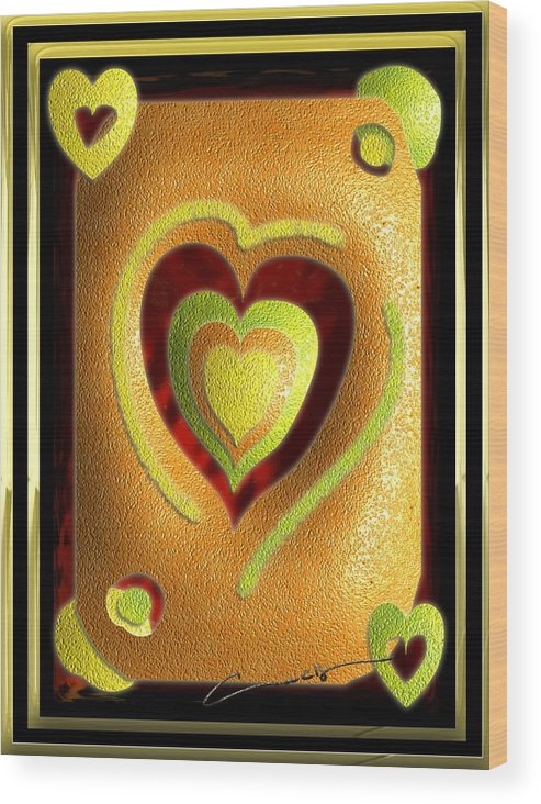 Love Wood Print featuring the digital art Love Of Fruit And Jello by Michael Hurwitz