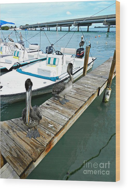 Robbies Wood Print featuring the photograph Robbies In Islamorada by Tammy Chesney