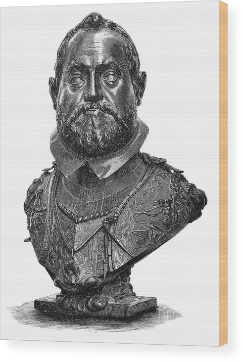 1607 Wood Print featuring the photograph Rudolf II (1552-1612) by Granger
