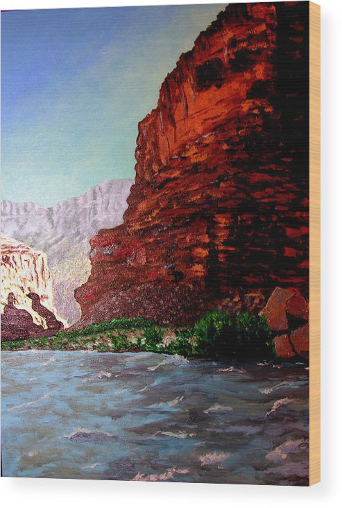 Grand Canyon Wood Print featuring the painting Grand Canyon II by Stan Hamilton